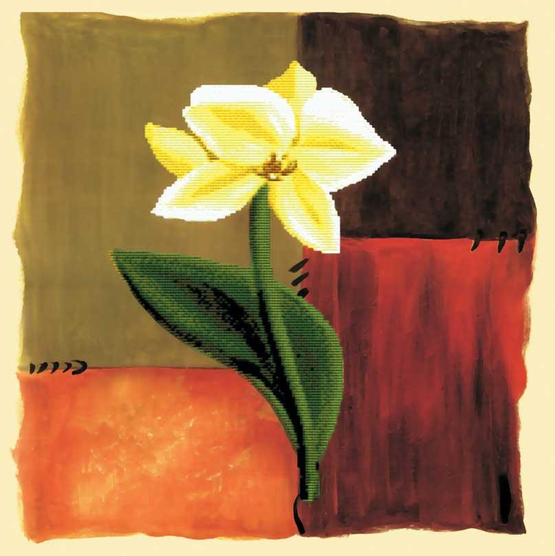 Набор для вышивания крестом Цветок надежды, частичная вышивка, 55 х 55 см7031-3D Цветок надежды
