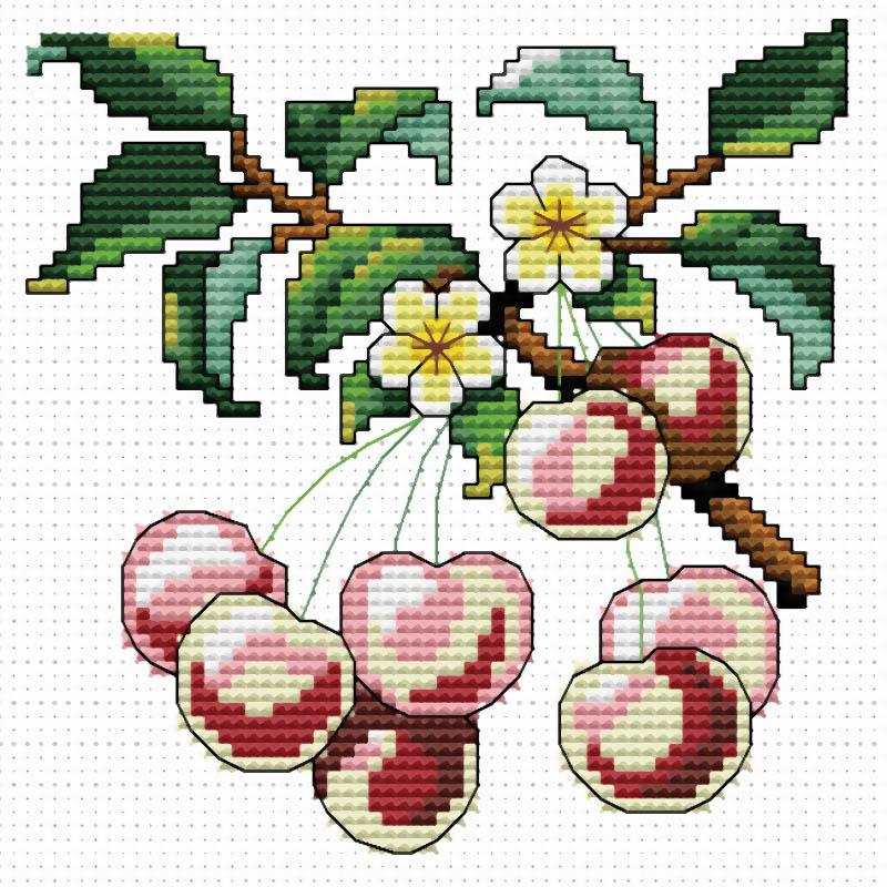 Набор для вышивания крестом Спелая вишня, 30 х 30 см735-14 Спелая вишня