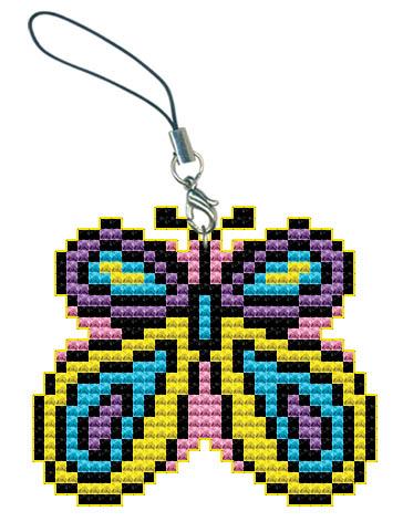 Набор для вышивания брелока БабочкаБрелок 6052 Бабочка