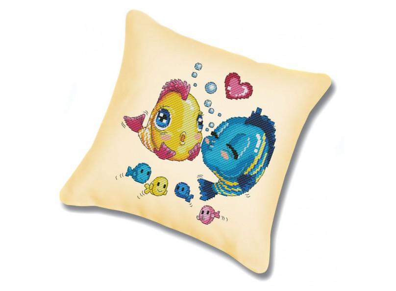 Набор для вышивания подушки Волнение, цвет: бежевый, 45 см х 45 смПодушка 368 Волнение (канва бежебая)