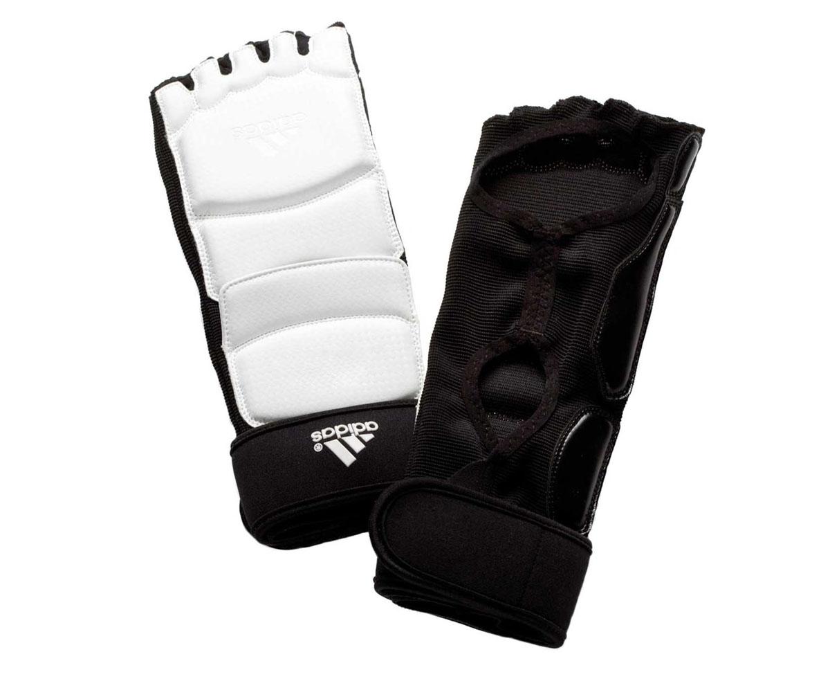 Защита стопы для тхэквондо Adidas Taekwondo Foot Socks WTF, цвет: белый. adiTFS01. Размер LadiTFS01