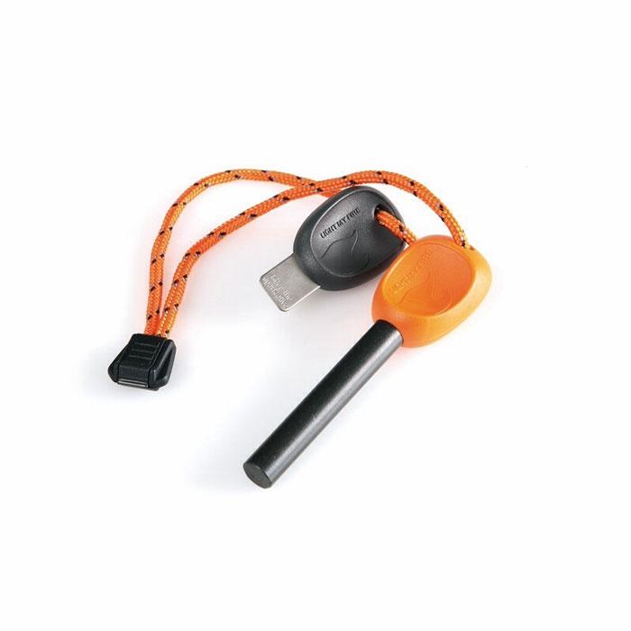 Огниво FireSteel Army, цвет: оранжевый11103610Огниво FireSteel Army с пластиковой ручкой поможет развести огонь в любых погодных условиях. Температура вспышки составляет 3000°C. Благодаря такому огниву можно поджечь газовую горелку, сухую траву, тонкую бумагу, кору или сосновую стружку. Работает даже при намокании.