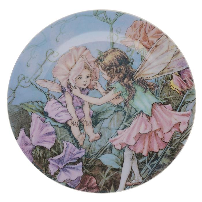 Тарелка декоративная Besko Эльфы, с подставкой, диаметр 18 см515-469