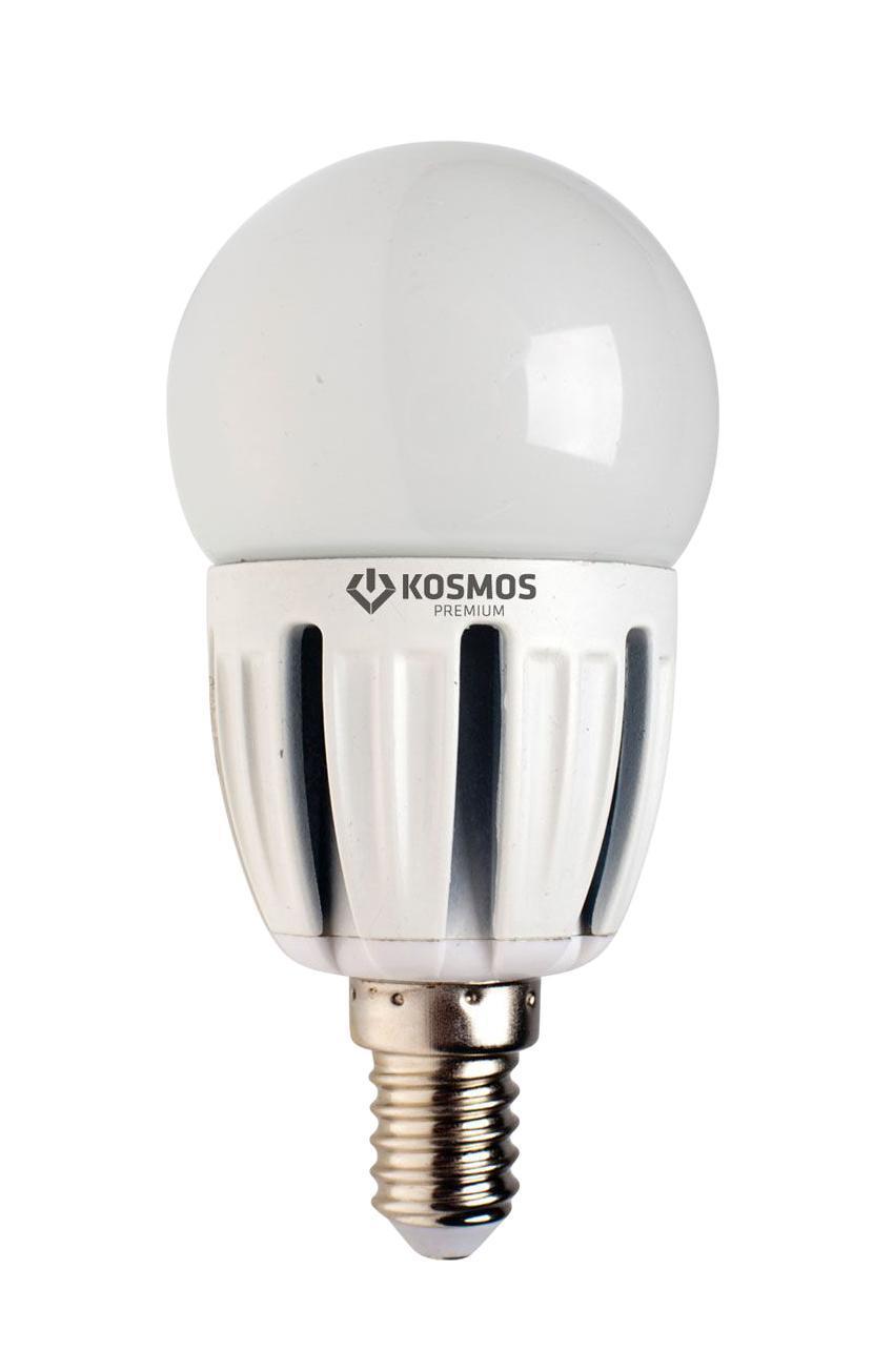 Светодиодная лампа Kosmos Premium, белый свет, цоколь Е27, 5W. KLED5wGL45230vE2745Kosmos Premium, белый свет, цоколь Е27, 5W. KLED5wGL45230vE2745Светодиодная лампа Kosmos Premium инновационный и экологичный продукт, специально разработанный для эффективной замены любых видов галогенных или обыкновенных ламп накаливания во всех типах осветительных приборов. Основные преимущества лампы Kosmos Premium: Служит 50000 часов, что в 50 раз дольше лампы накаливания (при работе 3 часа в день). Экономична - сберегает до 90% электроэнергии. Обладает высокой механической прочностью и вибростойкостью. Не искажает цвета. Благодаря применению чипов от мирового лидера Samsung, цветопередача приближена к идеальной. Устойчива к перепадам температуры (от -40°С до +50°С). Характеристики: Материал: пластик, металл, керамика. Потребляемая мощность: 5W. Цветность: 4500К (белый свет). Световой поток: 440 ЛМ. Диаметр лампы: 4,5 см. Высота лампы: 9,2 см. Напряжение: 220 V. Срок службы: до 50000 ч. Температура использования: -40°С - +50°С. Размер упаковки: 15,5 см х 12 см х 5 см. ...