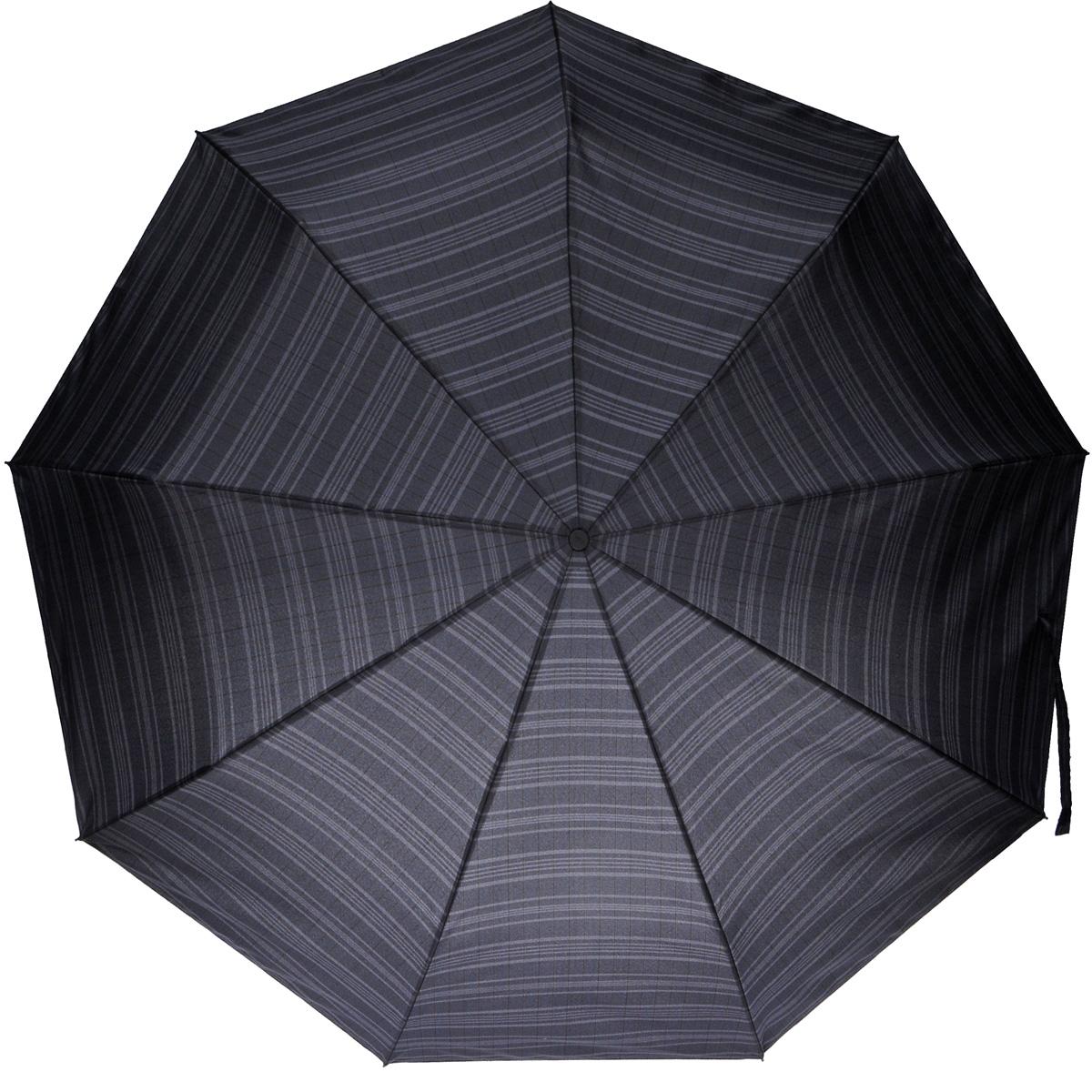 Зонт мужской Zest, автомат, 3 сложения, цвет: серый. 13953-413953-4Лаконичный автоматический зонт Zest в 3 сложения изготовлен из высокопрочных материалов. Каркас зонта состоит из 9 спиц из фибергласса и прочного алюминиевого стержня. Специальная система Windproof защищает его от поломок во время сильных порывов ветра. Купол зонта выполнен из прочного полиэстера с водоотталкивающей пропиткой и оформлен принтом в клетку. Используемые высококачественные красители обеспечивают длительное сохранение свойств ткани купола. Рукоятка, разработанная с учетом требований эргономики, выполнена из пластика. Зонт имеет полный автоматический механизм сложения: купол открывается и закрывается нажатием кнопки на рукоятке, стержень складывается вручную до характерного щелчка. Благодаря этому открыть и закрыть зонт можно одной рукой, что чрезвычайно удобно при входе в транспорт или помещение. Небольшой шнурок, расположенный на рукоятке, позволяет надеть изделие на руку при необходимости. К зонту прилагается чехол, дополненный застежкой-молнией. ...