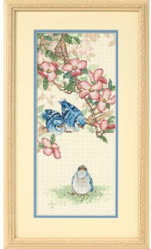 Набор для вышивания Dimensions Голубые птенцы, 18 х 41 смDMS-13728