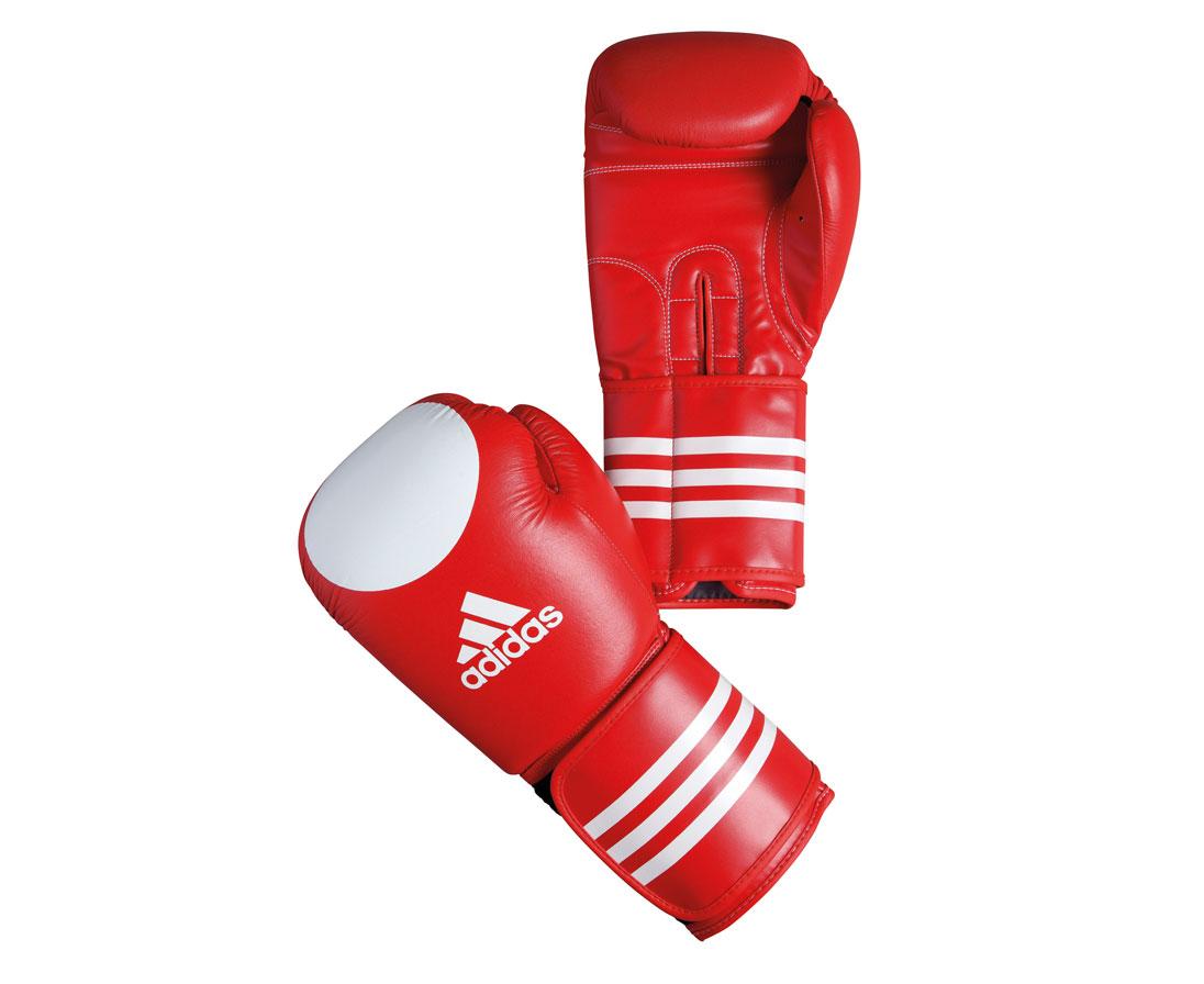Перчатки для кикбоксинга Adidas Ultima Competition Target Waco, цвет: красно-белый. adiBC021. Вес 12 унций