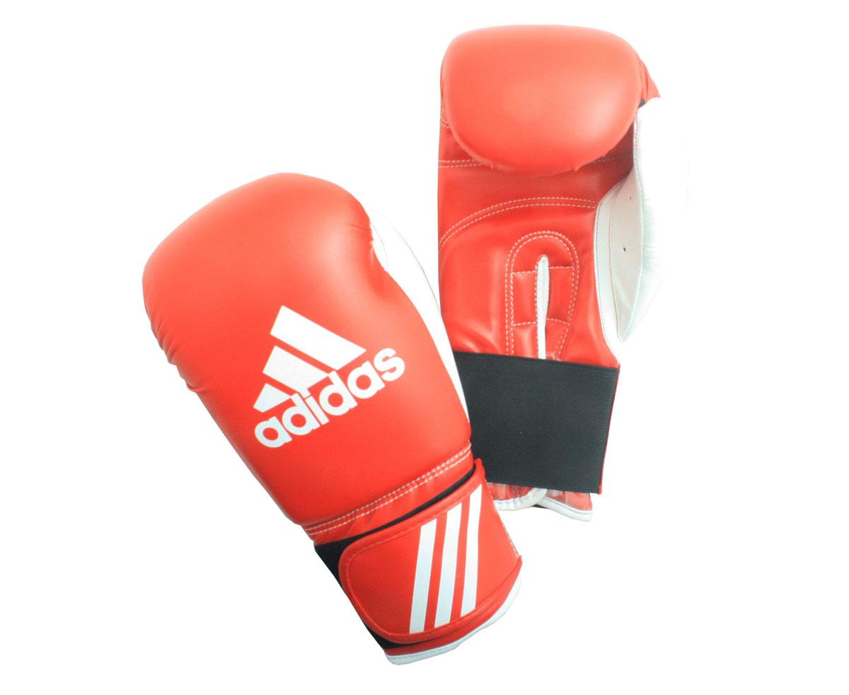 Перчатки боксерские Adidas Response, цвет: красно-белый. adiBT01. Вес 10 унций