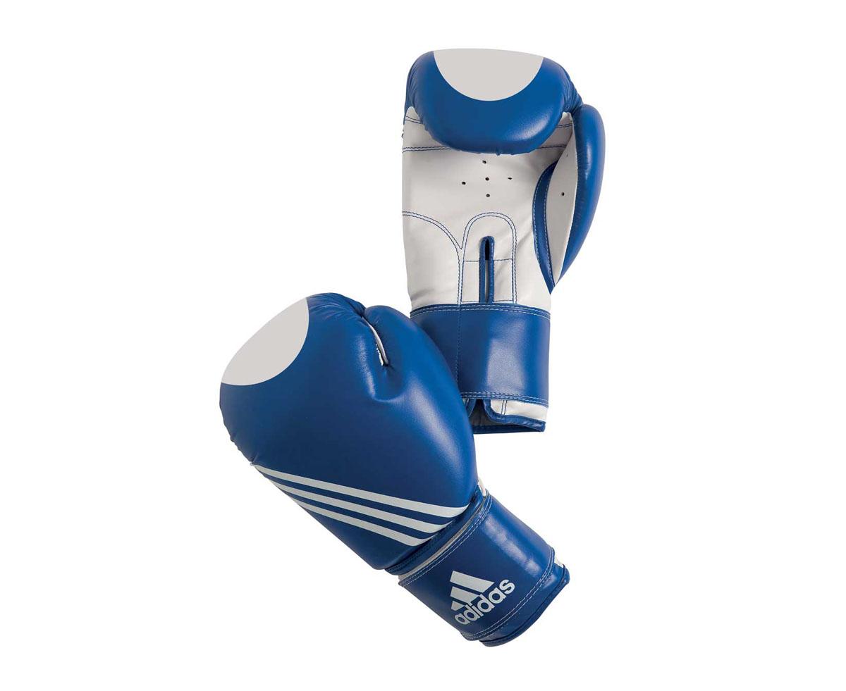 Перчатки для кикбоксинга Adidas Ultima Target Waco, цвет: сине-белый. adiBT021. Вес 12 унций