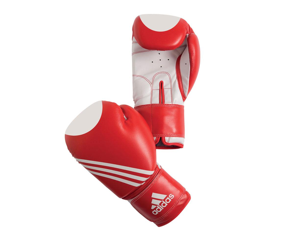 Перчатки для кикбоксинга Adidas Ultima Target Waco, цвет: красно-белый. adiBT021. Вес 10 унцийadiBT021Перчатки для кикбоксинга Adidas Ultima Target Waco. Сделаны из прочной искусственной кожи, удобно сидят на руке. Оснащены жесткой широкой манжетой. Фиксация на липучке. Внутренний наполнитель из формованной под давлением пены с интегрированной внутренней вставкой из геля, выполненной по технологии I-Protech.