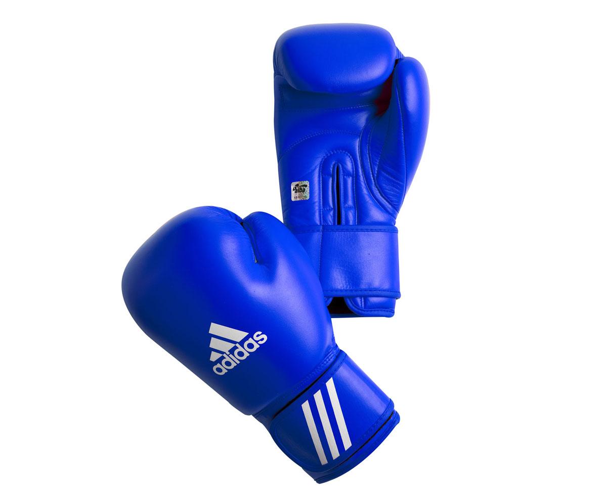 Перчатки боксерские Adidas Aiba, цвет: синий. AIBAG1. Вес 12 унций