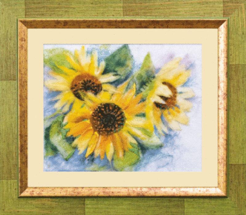 Набор для валяния Солнечная жизнь, 21 см х 17 см. В-071348756В наборе для валяния Солнечная жизнь есть все необходимое для создания собственного чуда: - шерсть для валяния (Новая Зеландия) - 15 цветов, - иглы - 2 шт, - фетровая основа светло-бежевая, - мулине Madeira - 8 цветов, - бисер Preciosa Ornela (Чехия) - 1 цвет, - цветная схема, - инструкция на русском языке. Работа, сделанная своими руками, создаст особый уют и атмосферу в доме и долгие годы будет радовать вас и ваших близких. Ведь вы выполните ее с любовью! Размер готовой работы: 21 см х 17 см. УВАЖАЕМЫЕ ПОКУПАТЕЛИ! Обращаем ваше внимание на то, что рамка в комплект не входит, а служит для визуального восприятия товара.