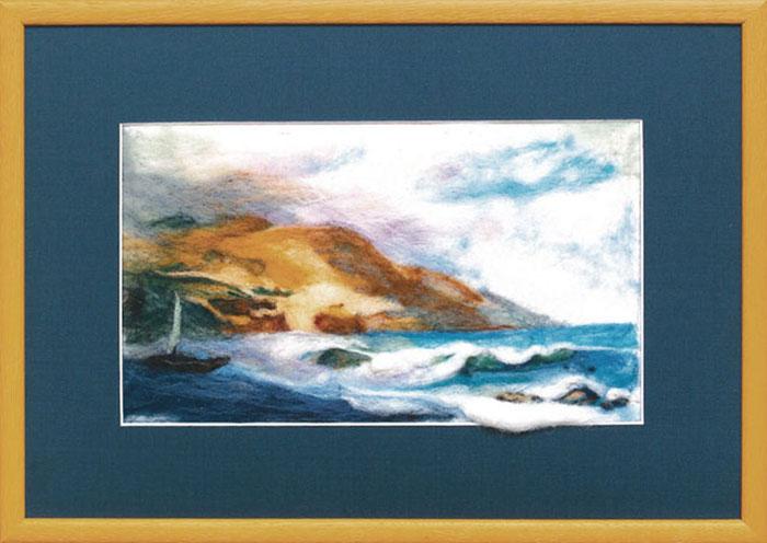 Набор для валяния Морской пейзаж, 15,5 см х 26 см348843Набор для валяния Морской пейзаж поможет вам создать свой личный шедевр - оригинальную картину, изготовленную из натуральной шерсти. Набор содержит: - шерсть для валяния (Новая Зеландия) - 18 цветов, - игла для валяния, - фетровая основа бежевого цвета, - цветная схема, - инструкция на русском языке. Работа, сделанная своими руками, создаст особый уют и атмосферу в доме и долгие годы будет радовать вас и ваших близких. Ведь вы выполните ее с любовью! УВАЖАЕМЫЕ ПОКУПАТЕЛИ! Обращаем ваше внимание на то, что рамка в комплект не входит, а служит для визуального восприятия товара.