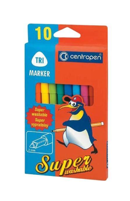Набор суперсмываемых маркеров Centropen, 10 цветов2570/10Характеристики: Длина маркера: 15 см. Диаметр наконечника: 2 мм. Размер упаковки: 10 см х 18,5 см х 1 см.