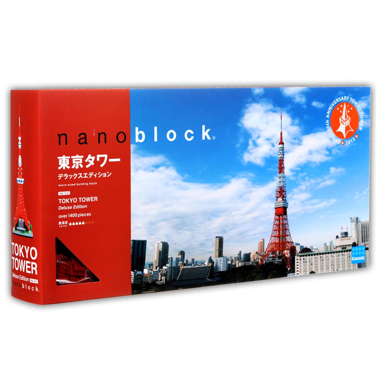 Nanoblock Мини-конструктор Токийская Телебашня DeluxeNB_018Одна из лучших и самых красивых моделей из Наноблока, заслуженно любимая фанатами бренда. Телебашня Tokyo Tower является одним из символов японской столицы. На башне есть две смотровые площадки, откуда открываются изумительные виды на город и Токийский залив. Модель токийской телебашни серии Deluxe - это максимальная точность и красота деталей. Токио - родной город для бренда nanobock и производитель приложил все усилия, для того чтобы создать настоящий шедевр. Достойный подарок не только ребенку, но и взрослому человеку. В комплекте: 1400 элементов, запасные элементы, подробная графическая схема-инструкция по сборке. Рекомендуется так же докупить LED-подсветку - аксессуар, который добавит собранной модели мягкое разноцветное свечение, идущее из основания (в комплект не входит). На последней странице инструкции есть информация о том, как правильно установить этот модуль подсветки. Примерное время сборки: 2,5 - 3 часа.