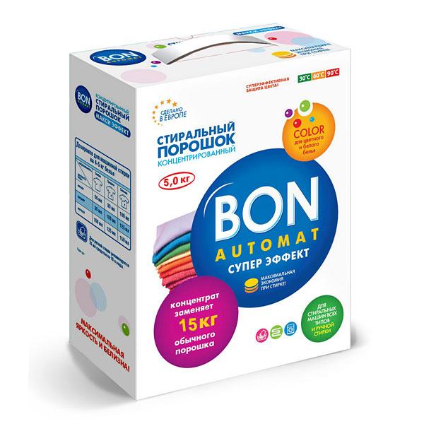 Стиральный порошок Bon Automat Супер Эффект, концентрированный, с поддержкой цвета, 5 кгBN-130