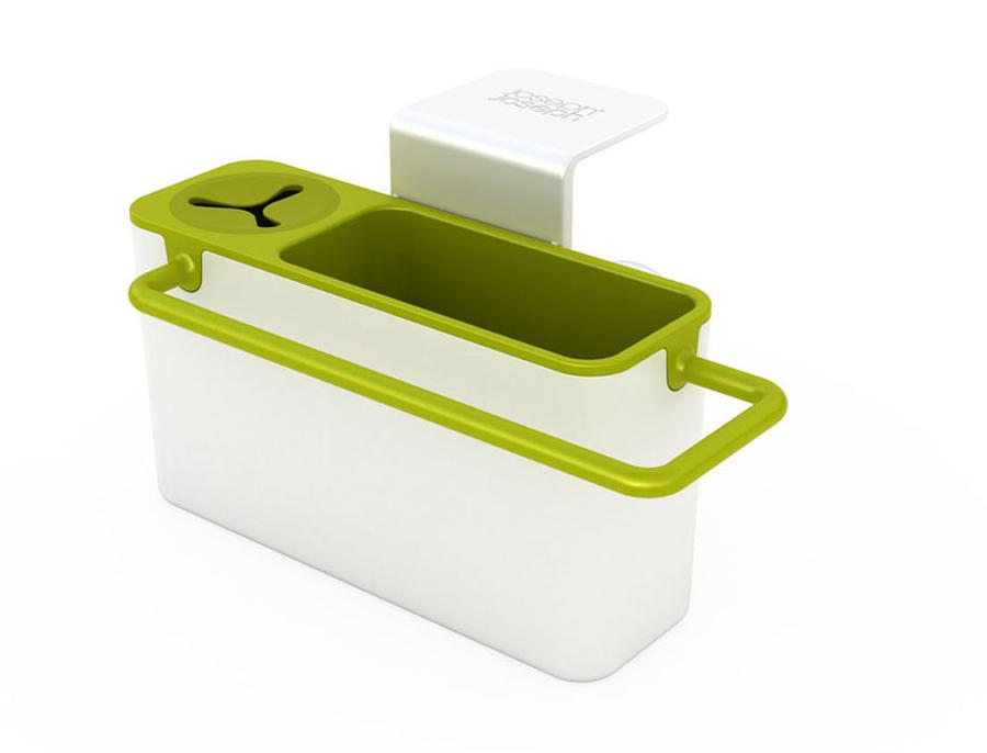 Органайзер для раковины Joseph Joseph Sink Aid, навесной, цвет: белый, зеленый85023Навесной органайзер для раковины Joseph Joseph Sink Aid изготовлен из прочного пластика. Это своеобразный органайзер для кухонных принадлежностей, таких как ершик для посуды, губка и тряпка. На дне изделие имеет отверстия для стока жидкости. Высоту изделия можно регулировать. Крепится к любой гладкой поверхности с помощью четырех присосок. Можно мыть в посудомоечной машине.