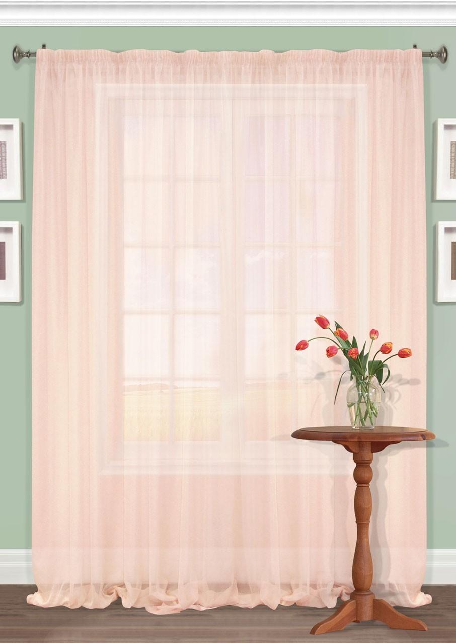 Штора Kauffort Акварель, на ленте, цвет: розовый, высота 287 см. UN111250170UN111250170Роскошная штора Kauffort Акварель выполнена из полиэстера. Материал плотный и мягкий на ощупь. Оригинальная текстура ткани и нежная цветовая гамма привлекут к себе внимание и органично впишутся в интерьер помещения. Эта штора будет долгое время радовать вас и вашу семью! Штора крепится на карниз при помощи ленты, которая поможет красиво и равномерно задрапировать верх.