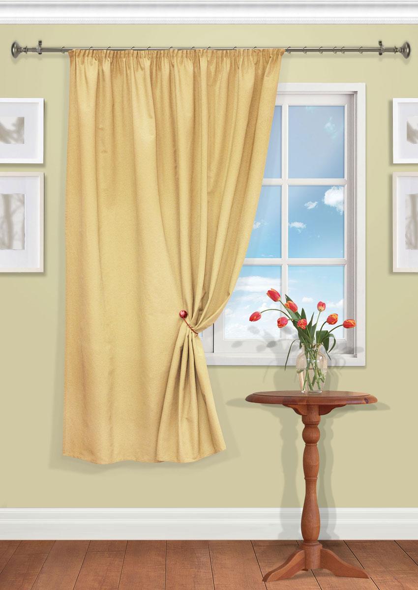 Штора Kauffort Рик, на ленте, цвет: желтый, высота 180 см. UN111550650UN111550650Роскошная штора Kauffort Рик выполнена из полиэстера и хлопка. Материал плотный и мягкий на ощупь. Оригинальная текстура ткани и нежная цветовая гамма привлекут к себе внимание и органично впишутся в интерьер помещения. Эта штора будет долгое время радовать вас и вашу семью! Штора крепится на карниз при помощи ленты, которая поможет красиво и равномерно задрапировать верх.