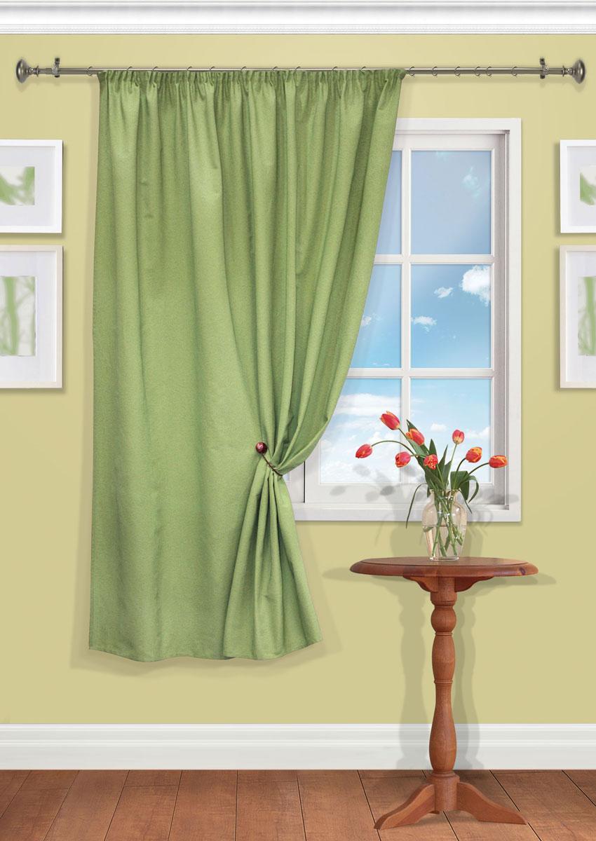 Штора Kauffort Рик, на ленте, цвет: зеленый, высота 180 см. UN111550680UN111550680Роскошная штора Kauffort Рик выполнена из полиэстера и хлопка. Материал плотный и мягкий на ощупь. Оригинальная текстура ткани и нежная цветовая гамма привлекут к себе внимание и органично впишутся в интерьер помещения. Эта штора будет долгое время радовать вас и вашу семью! Штора крепится на карниз при помощи ленты, которая поможет красиво и равномерно задрапировать верх.