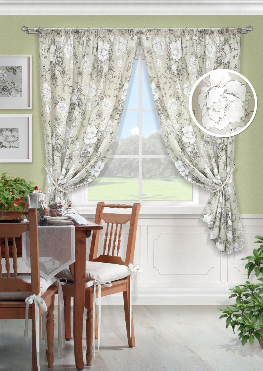 Комплект штор Kauffort Зафиро-С, на ленте, цвет: серый, высота 175 см. UN123333620UN123333620Роскошный комплект штор Kauffort Зафиро-C, выполненный из полиэстера и хлопка, великолепно украсит любое окно. Комплект состоит из двух штор. Плотная ткань и приятная, приглушенная гамма с цветочным принтом привлекут к себе внимание и органично впишутся в интерьер помещения. Этот комплект будет долгое время радовать вас и вашу семью! Шторы крепятся на карниз при помощи ленты, которая поможет красиво и равномерно задрапировать верх. Изделия можно зафиксировать в одном положении с помощью подхватов с двумя петельками для настенных крючков. Материал: 50% хлопок, 50% полиэстер. В комплект входит: Штора: 2 шт. Размер (Ш х В): 136 см х 175 см. Подхват: 2 шт. Размер (Д х Ш): 68 см х 8 см.