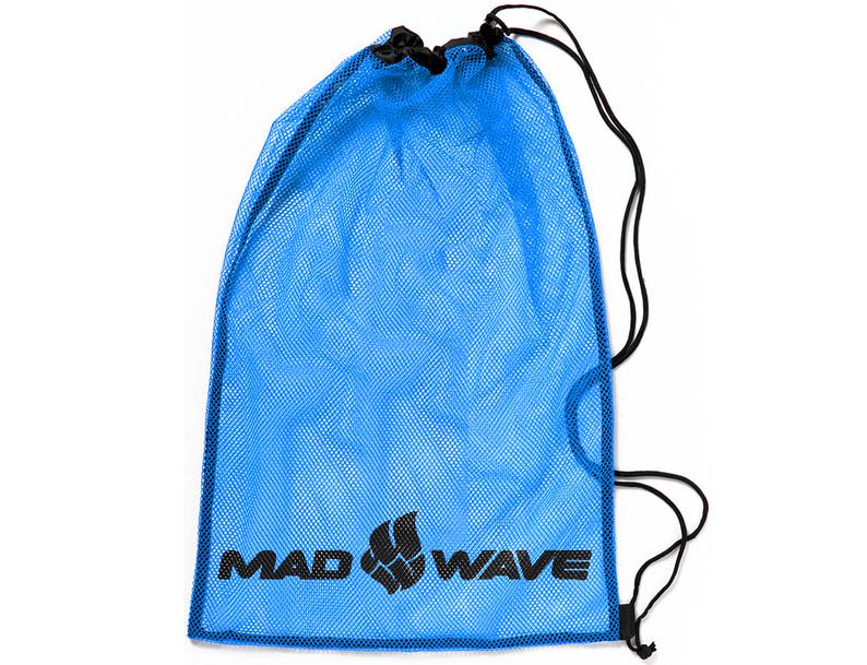 Мешок-сетка для инвентаря Mad Wave, цвет: синий, 65 см х 50 см10015768Вентилируемый мешок из сетчатой ткани Mad Wave предназначен для хранения мокрого инвентаря и спортивной одежды. Мешок фиксируется плотным шнуром, который одновременно служит лямками для переноски на спине. Материал не впитывает воду и быстро сохнет.