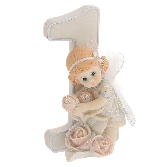 Статуэтка Molento Именинный ангелочек. 1 год, высота 11 см514-954Статуэтка Molento Именинный ангелочек. 1 год, выполненная из полистоуна, станет отличным подарком для вашего малыша! Все мы знаем, как порой непросто бывает выбрать подходящий подарок к тому или иному торжеству, а декоративные статуэтки Molento всегда были и останутся оригинальным подарком. Этот вид сувенира нельзя назвать бесполезной вещью. Статуэтка может стать великолепным украшением интерьера. Статуэтка является подарком на все времена, подобная вещь никогда не выйдет из моды. Спустя годы она будет только радовать владельца своими изящными формами и плавными линиями.