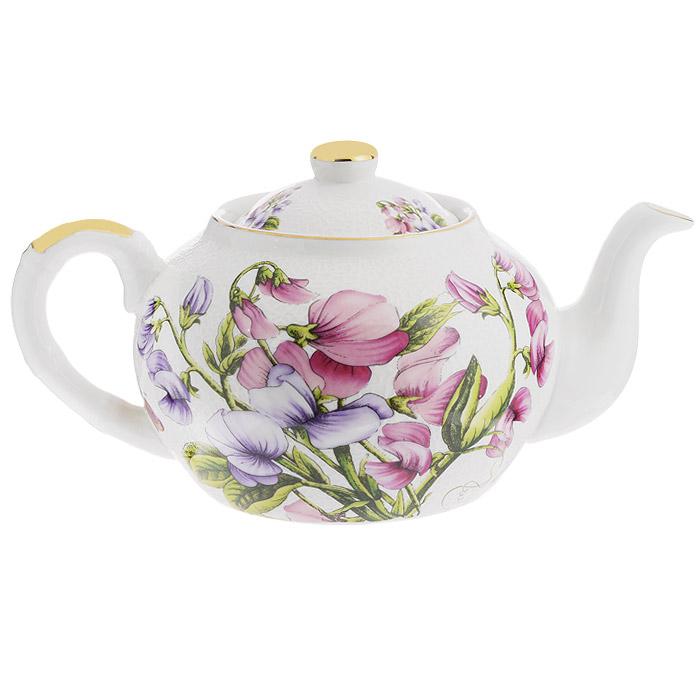 Чайник заварочный Briswild Душистый горошек, 1 л. 545-725545-725Чайник заварочный Briswild Душистый горошек изготовлен из высококачественного фарфора белого цвета, украшенного рельефом и ярким изображением цветов. Такой дизайн, несомненно, придется по вкусу любителям классики и тем кто ценит красоту и изящество. Чайник заварочный Briswild Душистый горошек украсит ваш кухонный стол, а также станет замечательным подарком к любому празднику. Не использовать в микроволновой печи. Не применять абразивные чистящие вещества. Диаметр по верхнему краю: 8,5 см. Диаметр основания чайника: 9,2 см. Высота чайника (без учета крышки): 10 см.