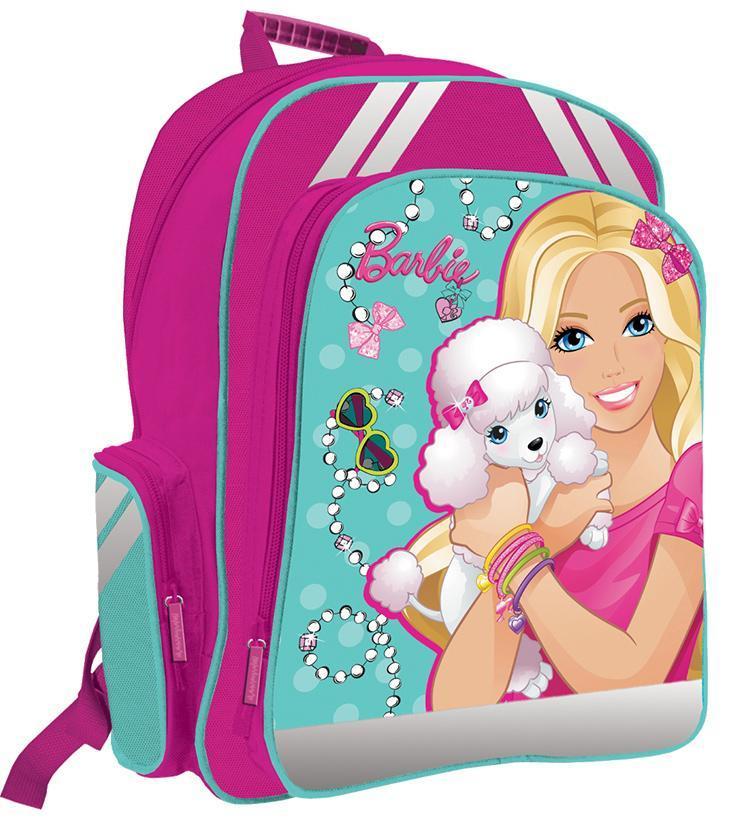 Рюкзак детский Barbie BRAB-ET3-836BRAB-ET3-836Спинка выполнена с использованием высокотехнологичного упругого материала (EVA) и специально расположенных эргономических элементов с воздухообменной сеткой, служащих для правильного и безопасного распределения нагрузки на спину ребенка. Лямки рюкзака специальной S-образной формы с поролоном и воздухообменной сеткой регулируются по длине. Данные конструктивные особенности помогут обеспечить максимальный комфорт при ношении рюкзака за спиной ребенку любой комплекции. Основное отделение с двумя разделителями. Вместительный карман на фронтальной стенке рюкзака в который можно положить изделия форматом до А4 включительно. Внутри кармана есть органайзер для ручек, пеналов и мелочей. Рюкзак снабжен двумя боковыми карманами и текстильной ручкой с резиновым захватом. Дно рюкзака можно сделать жестким, разложив специальную панель с пластиковой вставкой, что повышает сохранность содержимого рюкзака и способствует правильному распределению нагрузки.