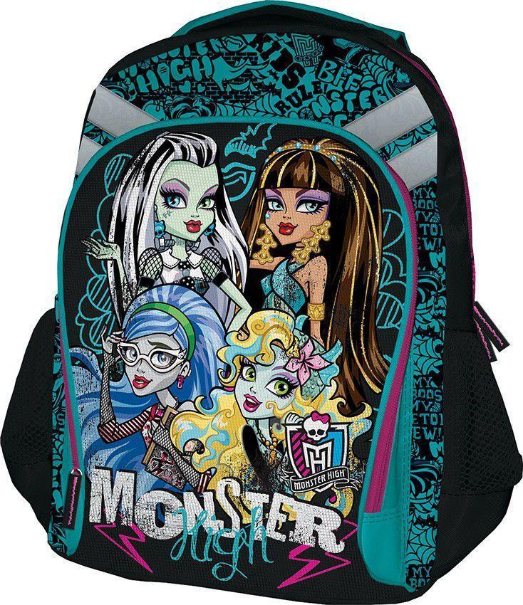 Рюкзак Monster High, цвет: зеленый, черный. MHBB-MT1-988MMHBB-MT1-988MСпинка рюкзака Monster High выполнена с использованием мягкого материала с вентиляционной сеткой. Лямки рюкзака специальной S-образной формы с поролоном и воздухообменной сеткой регулируются по длине. Данные конструктивные особенности помогут обеспечить максимальный комфорт.