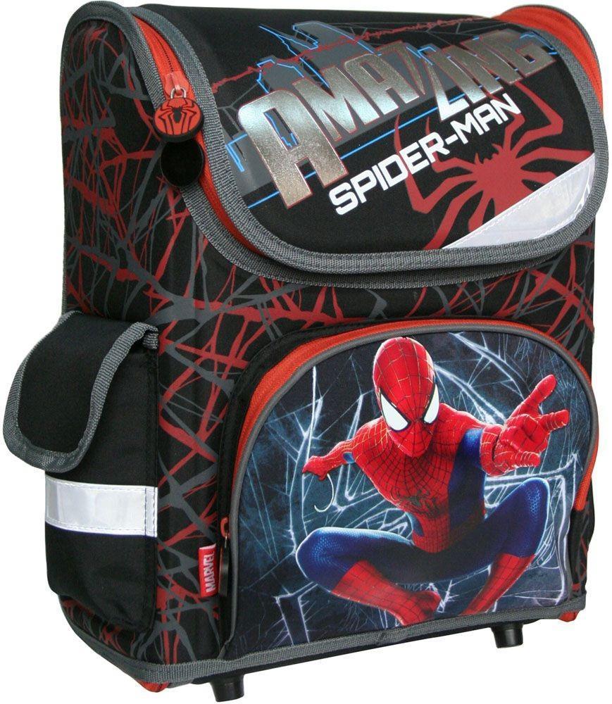 Рюкзак-трансформер Amazing Spider-Man 2, эргономичный, с EVA-спинкойSMBB-UT1-116Ранец-трансформер с изображением героя популярных комиксов понравится мальчикам младшего школьного возраста. Его конструкция создана с учетом анатомических особенностей ребенка. Рюкзак имеет основное отделение на молнии. Внутреннее отделение с двумя разделителями, которые фиксируются резинкой, чтобы избежать движения предметов по рюкзаку. На фронтальной части карман на молнии. С одной боковой стороны карман-сетка, с другой закрытый карман на липучке. Благодаря прорезиненной ручке, рюкзак удобно носить в руке. Лямки выполнены с использованием поролона и воздухообменного сетчатого материала, регулируются по длине. Дно рюкзака имеет пластиковые ножки. Рюкзак снабжен светоотражающими элементами спереди, по бокам и на лямках.