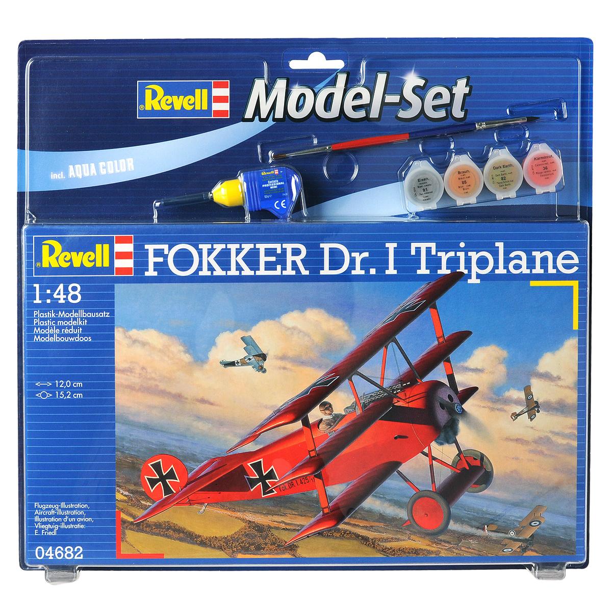 Revell Самолет-истребитель Fokker Dr. I Triplane Набор для сборки и раскрашивания модели
