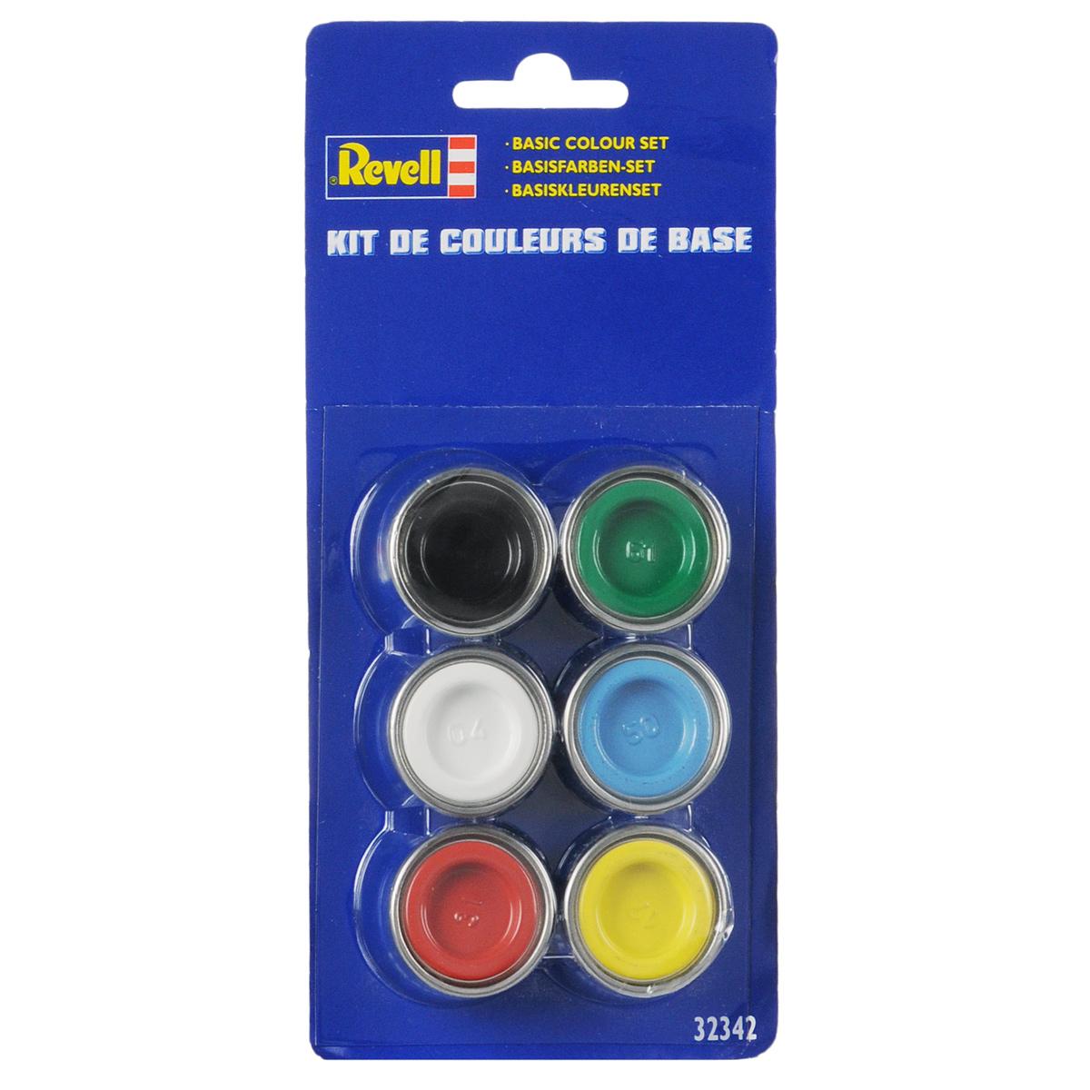 Revell Набор красок для моделей глянцевых32342Краски для моделей Revell - это высококачестный материал для покраски ваших моделей. В базовый набор входит 6 мини-баночек с краской, каждая из которых имеет объем в 14 мл. Номера красок: 04, 7, 12, 31, 50, 61.