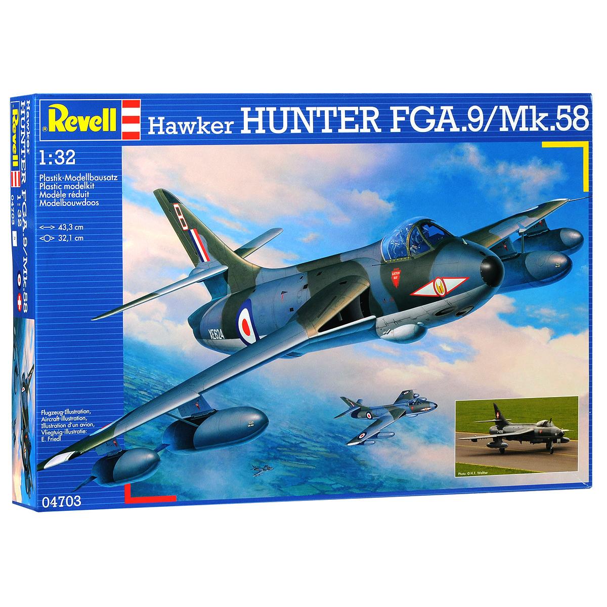 Сборная модель Revell Самолет-перехватчик Hawker Hunter FGA.9/Mk.5804703Сборная модель Revell Самолет-перехватчик Hawker Hunter FGA.9/Mk.58 поможет вам и вашему ребенку придумать увлекательное занятие на долгое время. Набор включает в себя 207 пластиковых элементов, из которых можно собрать достоверную уменьшенную копию одноименного самолета. Сборная модель британского истребителя-бомбардировщика Hawker Hunter состоял на вооружении Королевских ВВС в 1950-1960-х годах, широко экспортировался и принимал участие во множестве вооружённых конфликтов. Также в наборе схематичная инструкция по сборке. Процесс сборки развивает интеллектуальные и инструментальные способности, воображение и конструктивное мышление, а также прививает практические навыки работы со схемами и чертежами. Уровень сложности: 5. УВАЖАЕМЫЕ КЛИЕНТЫ! Обращаем ваше внимание на тот факт, что для сборки этой модели клей и краски в комплект не входят. Клей и краски нужно покупать отдельно.