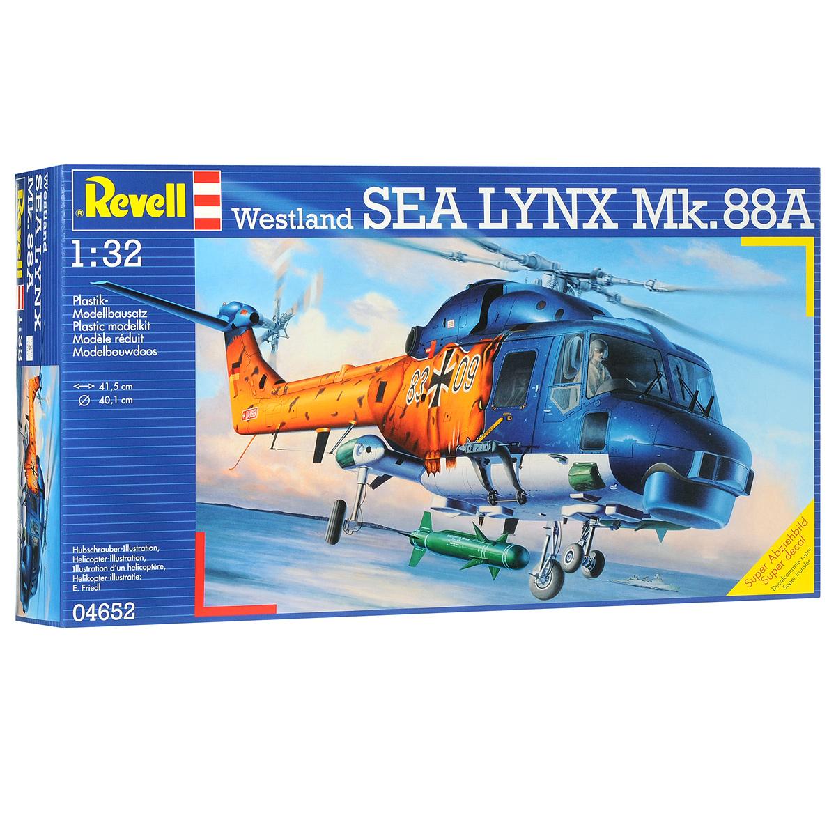 Сборная модель Revell Вертолет Westland SEA LYNX Mk.88A04652Сборная модель Revell Вертолет Westland SEA LYNX Mk.88A поможет вам и вашему ребенку придумать увлекательное занятие на долгое время. Набор включает в себя 265 пластиковых элементов, из которых можно собрать достоверную уменьшенную копию одноименного вертолета. Также в наборе схематичная инструкция по сборке. Разработанный в 1971 году вертолет состоит на вооружении ряда европейский, азиатских и ближневосточных стран. Активно применялся англичанами во время войны за Фолклендские острова. Вертолеты Westland Lynx потопили одно и повредили еще одно торговое судно Аргентины. Кроме того, эти вертолеты были использованы во время конфликтов в Ираке и Ливии. Процесс сборки развивает интеллектуальные и инструментальные способности, воображение и конструктивное мышление, а также прививает практические навыки работы со схемами и чертежами. Уровень сложности: 5. УВАЖАЕМЫЕ КЛИЕНТЫ! Обращаем ваше внимание на тот факт, что для сборки этой...
