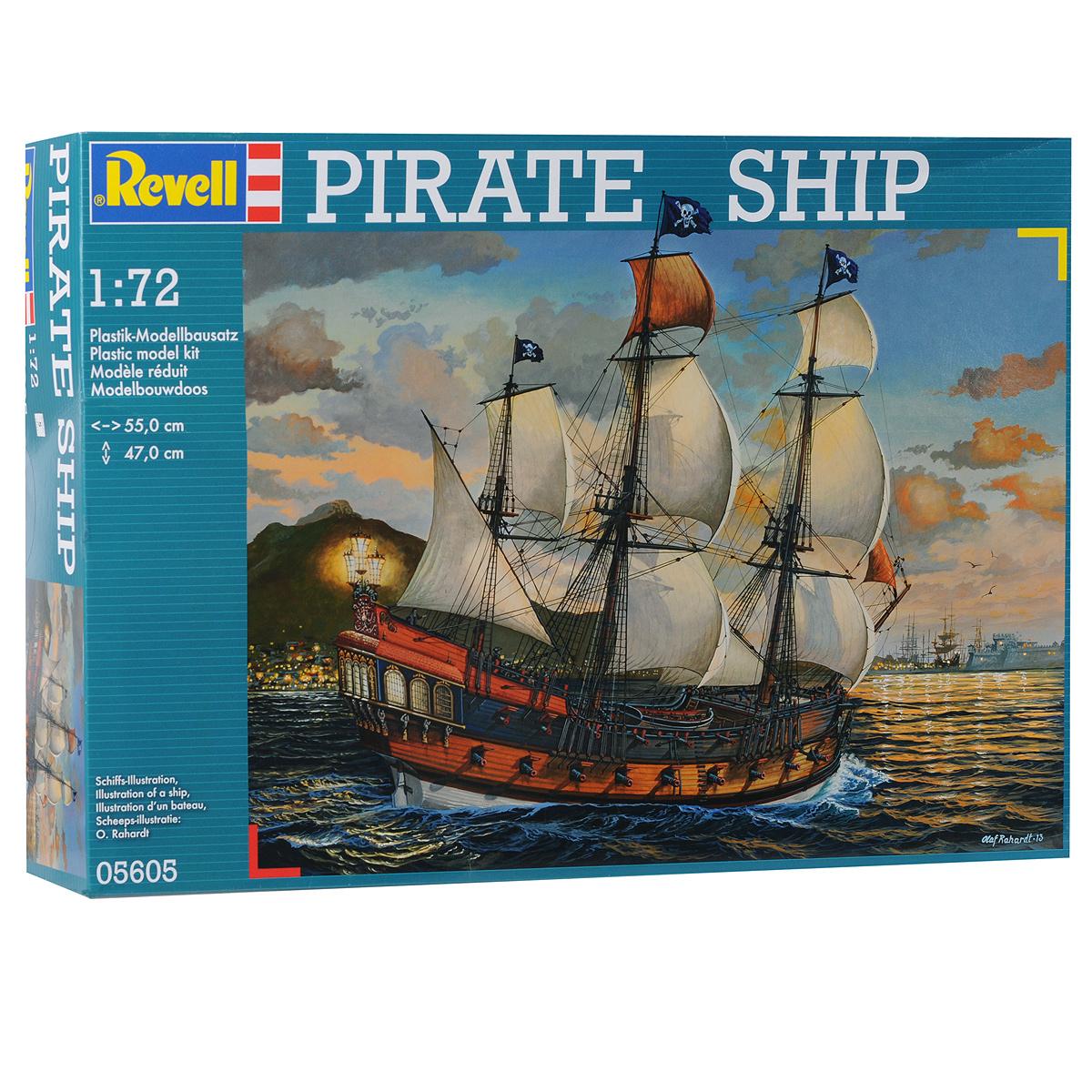Сборная модель Revell Пиратский корабль, 896 элементов05605Сборная модель Revell Пиратский корабль поможет вам и вашему ребенку придумать увлекательное занятие на долгое время. Набор включает в себя 896 пластиковых элементов, из которых можно собрать достоверную уменьшенную копию пиратского корабля. Пиратство в своей первоначальной форме морских набегов появилось одновременно с мореплаванием и морской торговлей; такими набегами занимались все прибрежные племена, овладевшие основами мореплавания. С появлением цивилизации грань между пиратами и торговцами долгое время оставалась условной: мореплаватели торговали там, где не чувствовали себя достаточно сильными, чтобы грабить и захватывать в плен. Начиная еще с античных пиратов предпочтение отдавалось кораблям легким и быстроходным. На небольшом парусном судне можно было легко уйти от преследования. Не часто пираты сооружали корабли на островах сами. В набор входит схематичная инструкция по сборке. Процесс сборки развивает интеллектуальные и инструментальные...