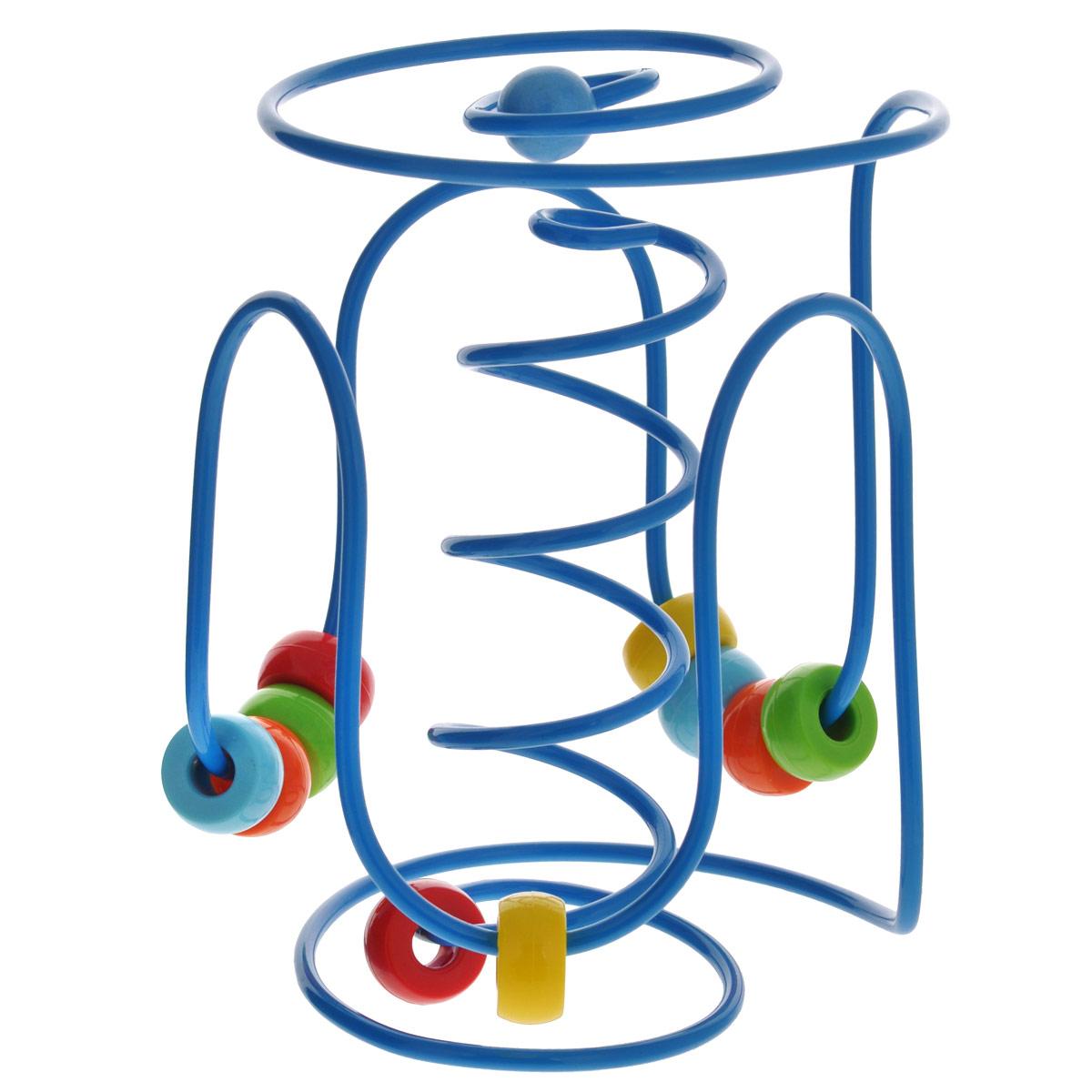 Развивающая игрушка Hape Лабиринт. Е1800Е1800Яркая развивающая игрушка Hape Лабиринт понравится вашему малышу и надолго займет его внимание. Она представляет собой металлическую спираль, на которую нанизаны разноцветные колечки. Малыш с удовольствием сможет их передвигать по спирали или вращать. Игрушка Hape Лабиринт поможет ребенку в развитии цветового и звукового восприятия, мелкой моторики рук, координации движений и логического мышления.