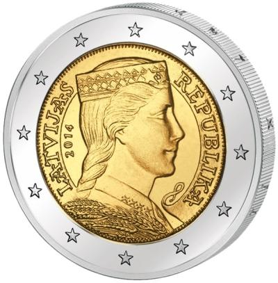 Монета номиналом 2 евро Латвийская девушка Милда. Латвия, 2014 годF30 BLUEМонета номиналом 2 евро Латвийская девушка Милда. Латвия, 2014 год Диаметр 2,5 см. Сохранность UNC (без обращения).