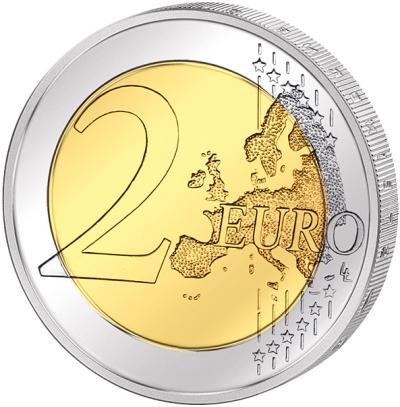 Монета номиналом 2 евро