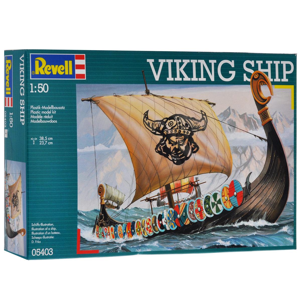 Сборная модель Revell Корабль викингов5403Сборная модель Revell Корабль викингов поможет вам и вашему ребенку придумать увлекательное занятие на долгое время. Набор включает в себя 131 пластиковый элемент, из которых можно собрать уменьшенную копию корабля викингов. Корабль гордых викингов уже в пути! Парус поднят, весла готовы, щиты размещены вдоль бортов, чтобы защитить гребцов от вражеских стрел, хищная птица на носу корабля внимательно смотрит на воду. Также в наборе схематичная инструкция по сборке. Процесс сборки развивает интеллектуальные и инструментальные способности, воображение и конструктивное мышление, а также прививает практические навыки работы со схемами и чертежами. Уровень сложности: 3. УВАЖАЕМЫЕ КЛИЕНТЫ! Обращаем ваше внимание на тот факт, что элементы для сборки не покрашены. Клей и краски в комплект не входят.