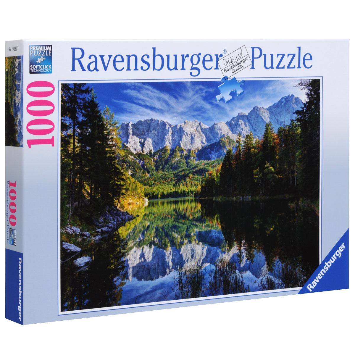 Ravensburger Озеро Эйб. Пазл, 1000 элементов19367Пазл Ravensburger Озеро Эйб, без сомнения, придется по душе вам и вашему ребенку. Собрав этот пазл, включающий в себя 1000 элементов, вы получите потрясающую картину с изображением необычайно красивого Озера Эйб. Поверхность озера настолько зеркальная, что в нем можно увидеть горы, которые находятся за километры от него. На картинке также изображены окружающие озеро леса. Каждая деталь имеет свою форму и подходит только на своё место. Нет двух одинаковых деталей! Пазл изготовлен из картона высочайшего качества. Все изображения аккуратно отсканированы и напечатаны на ламинированной бумаге. Пазлы - замечательная развивающая игра для детей. Собирание пазла развивает у ребенка мелкую моторику рук, тренирует наблюдательность, логическое мышление, знакомит с окружающим миром, с цветом и разнообразными формами, учит усидчивости и терпению, аккуратности и вниманию.