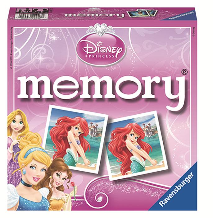 Ravensburger Настольная игра Мемори: Принцессы22207Настольная игра Ravensburger Мемори: Принцессы - это увлекательнейший способ времяпрепровождения. Для начала игры нужно перемешать все карточки и разложить на столе картинками вниз. Для запоминания картинок и их расположения карточки на короткое время открываются, затем их закрывают, и игра начинается. Первый игрок открывает любые две карточки. Если изображение на них совпало, то игрок забирает их себе и продолжает игру до тех пор, пока не попадутся две разные картинки. В этом случае карточки возвращаются на место, а игру продолжает следующий игрок. Побеждает тот, кто собрал наибольшее количество пар. Комплект игры включает 72 картонные карточки (36 пар) с изображениями диснеевских принцесс.