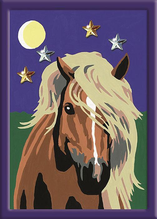 Ravensburger Раскрашивание по номерам Лошадь в лунном свете