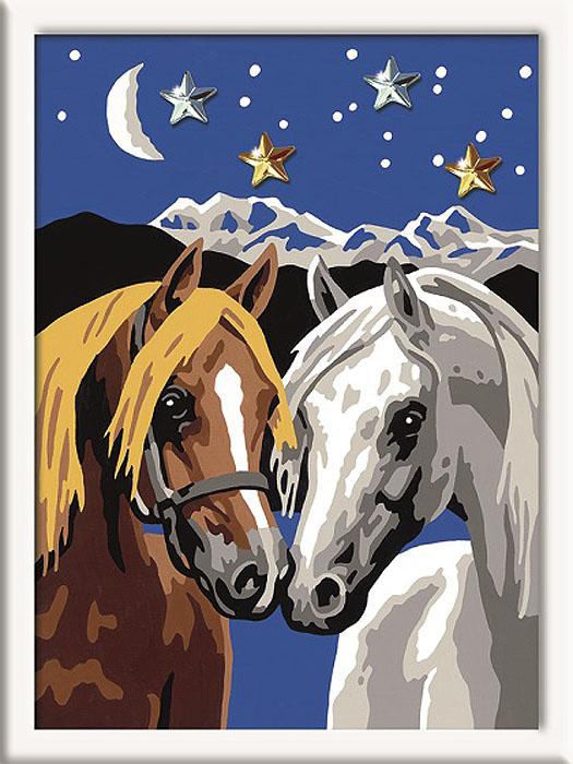 Ravensburger Раскрашивание по номерам Две лошадки