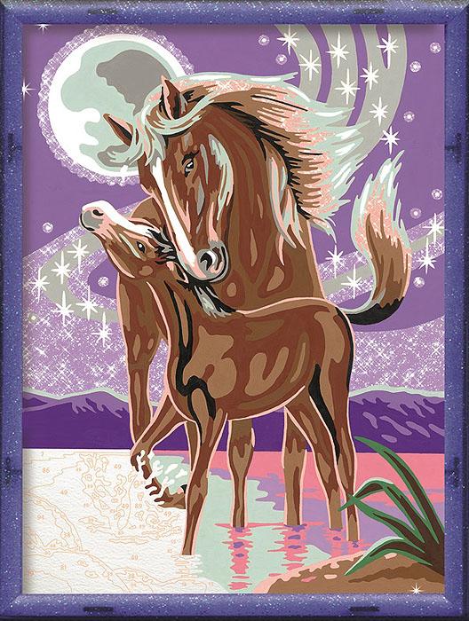 Ravensburger Раскрашивание по номерам Лошадь с жеребенком28087Раскраска Ravensburger Лошадь с жеребенком 28162 поможет вашему ребенку увлекательно и интересно провести время. Рисовать с набором очень легко: нужно просто наносить краску в соответствии с номером. Готовая картинка станет отличным украшением интерьера или хэнд-мейд подарком.