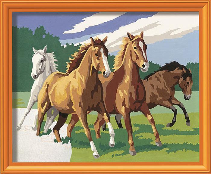 Ravensburger Раскрашивание по номерам Дикие лошади