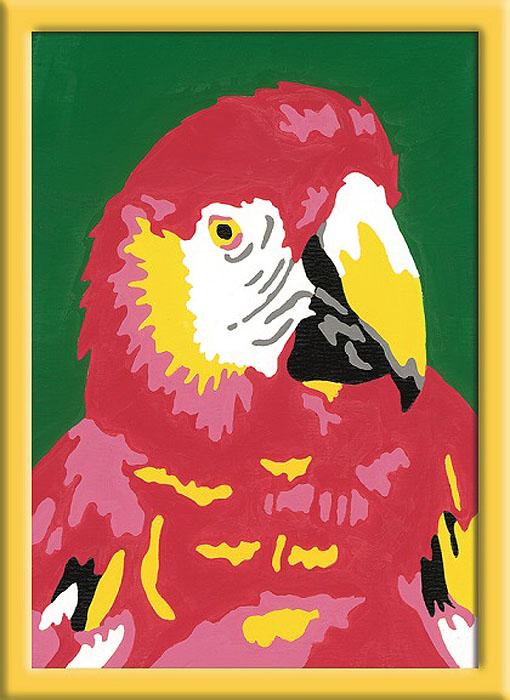 Ravensburger Раскрашивание по номерам Попугай29583Раскрашивание по номерам развивает творческие способности, художественный вкус, внимание и усидчивость. Увлекательные занятия живописью с набором Попугай от Ravensburger никого не оставят равнодушным. Картина раскрашивается без смешивания красок. Все необходимые цвета красок есть в комплекте. Просто закрашивайте участки красками с соответствующим номером.