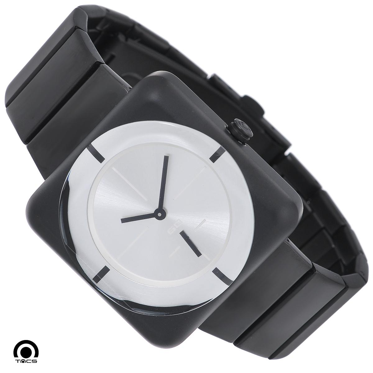 Часы мужские наручные Tacs Soap-M-C, цвет: черный, хром. TS1003CTS1003CОригинальные кварцевые наручные часы Tacs Soap-M-C созданы для людей, ценящих качество, практичность и индивидуальность в каждой детали. Часы выполнены в минималистическом стиле. Строгая однотонная цветовая гамма позволяет сочетать часы с любыми предметами гардероба. Часы оснащены японским кварцевым механизмом MIYOTA 1L45. Квадратный корпус с закругленными углами выполнен из нержавеющей стали с PVD-покрытием. Корпус водонепроницаемый, что позволяет заниматься плаванием в часах. Круглый циферблат оформлен в строгом лаконичном стиле: имеется три стрелки и 4 основных метки. Циферблат защищен прочным минеральным стеклом, устойчивым к царапинам и повреждениям. Браслет часов, выполненный из нержавеющей стали с PVD-покрытием, долговечен и очень практичен в использовании. Застегивается на застежку-клипсу с двумя кнопками по бокам. Часы Tacs покорят вас привлекательными формами и лаконичным дизайном, а высокое качество и практичность позволят использовать их...