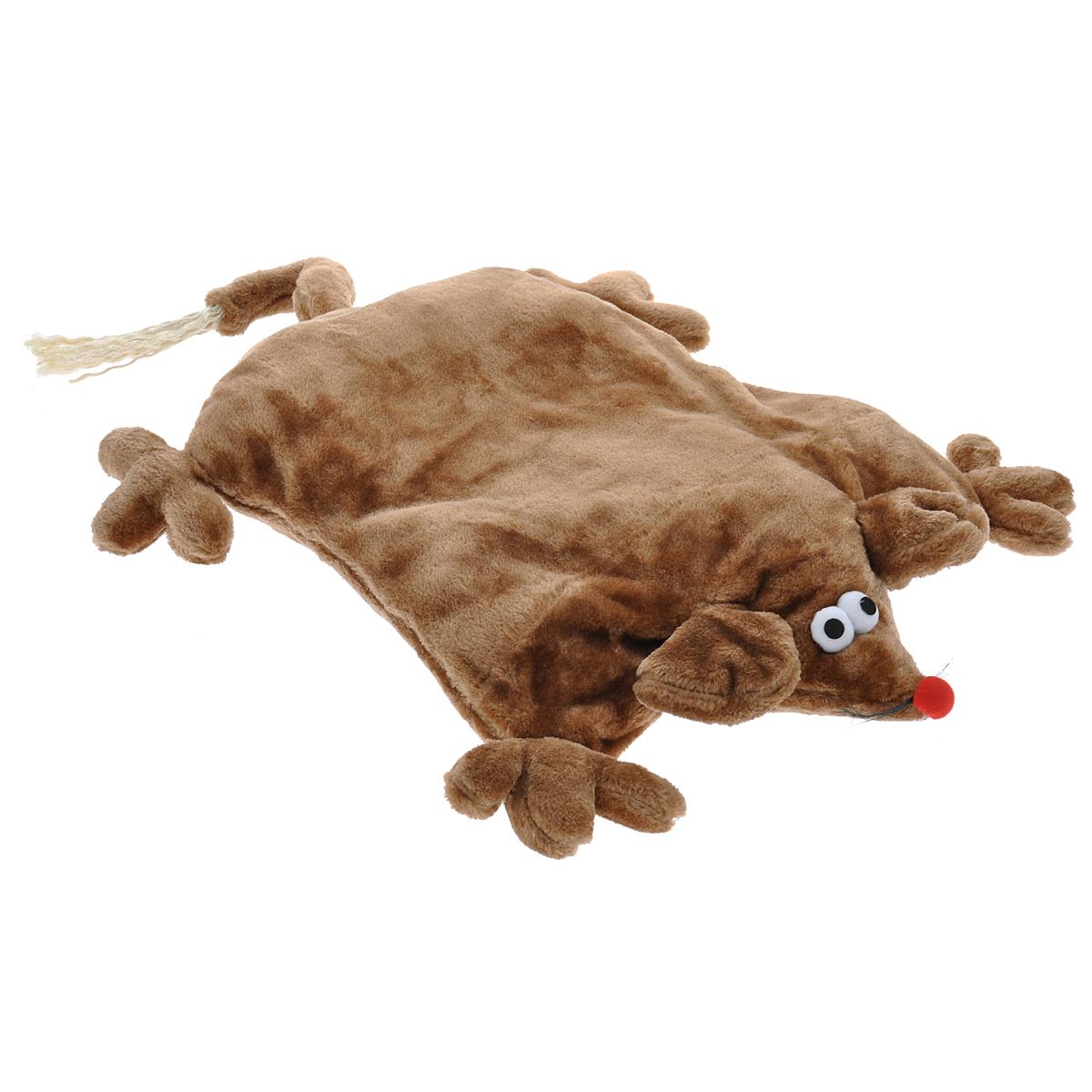 Лежанка для кошек I.P.T.S. Мышь, цвет: коричневый, 45 см х 59 см х 9 см16751/704780Лежанка I.P.T.S. Мышь станет излюбленным местом отдыха для вашего питомца, ведь уютное плюшевое спальное место по достоинству оценит даже самый привередливый кот. Лежанка имеет форму мыши и немного напоминает мягкую плоскую подушку. Ваш питомец сможет поиграть с длинным хвостиком или забавными усиками. Изделие будет одинаково хорошо смотреться как в гостиной, так и в другой комнате, поскольку вписывается в любой интерьер. Можно стирать в стиральной машине при 30°C. Размер лежанки: 45 см х 59 см х 9 см. Товар сертифицирован.