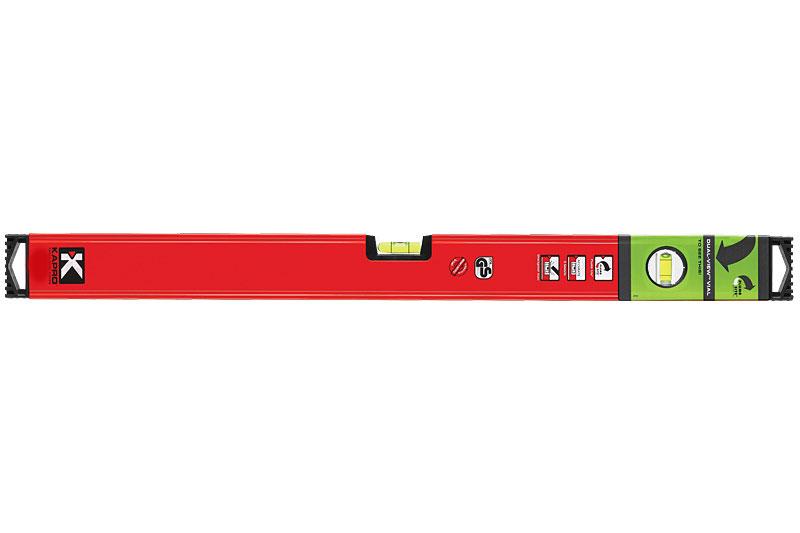 Уровень магнитный Kapro PlumbSite Genesis, 2 колбы, 100 см781-40-100РМУровень магнитный Kapro PlumbSite Genesis используется при необходимости контроля горизонтальных и вертикальных плоскостей. Легкий металлический корпус уровня обеспечивает долгий срок эксплуатации. Оснащен 2 колбами. Имеется магнит для фиксации на железном покрытии.